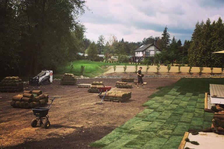 Landscape turf installation